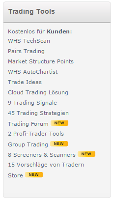 WH Selfinvest Trading Tools