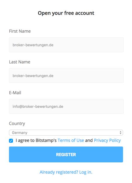 Bitstamp Anmeldung